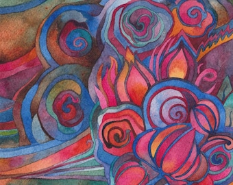 Dreamscape 2 Original Watercolor by Megan Noel