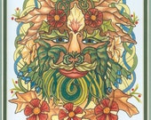 Celtic Greenman Print