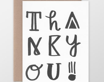 Thank You! Funky Type Card