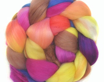FAUX CASHMERE roving top handdyed spinning fibre 3.5 oz vegan