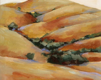California Landscape Oil Painting of HIlls  art print