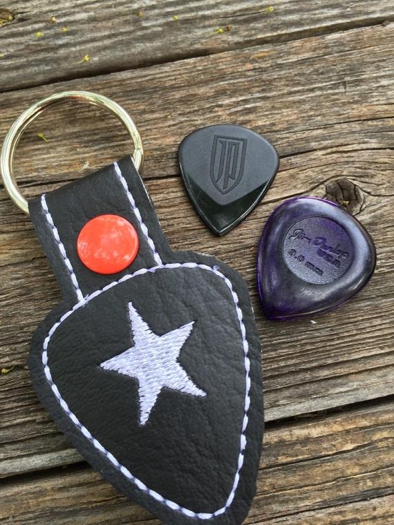 guitar pick holder keyring rock star pick case by babymoon. Black Bedroom Furniture Sets. Home Design Ideas