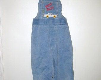 Vintage Denim Overalls- Childrens Overall Pants- Vintage Kids Clothing- Jean Overalls- Toddler Overalls- Retro Childrens Clothes- Boys Pants