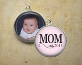 Mom Est. Year - Double Sided Personalized Pendant or Key Chain  - Mother's Day