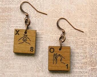 BSL Scrabble Earrings - Choose your letters