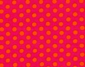 Kaffe Fassett SPOT in Fuchsia, Polka Dot 1/2 Yard GP70 Westminster Fabric /  Cotton, Quilt Craft and Apparrell fabric