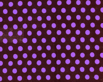 SPOT in BLACK, Purple Dots Polka Dot , GP070 Kaffe Fassett Fabric Classic Collection /  1/2 yard Cotton, Quilt Craft and  fabric