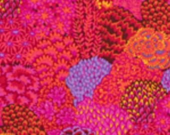 Oriental Trees in Red by Kaffe Fassett PWGP129 Westminster Fabric / 1/2 yard Cotton, Quilt Craft and Apparrell fabric