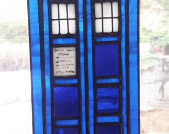 Dr. Who Tardis- Stained Glass