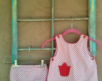 Vintage 1960s Baby Sunsuit Romper 18 Months Toddler 2 Piece 2015219