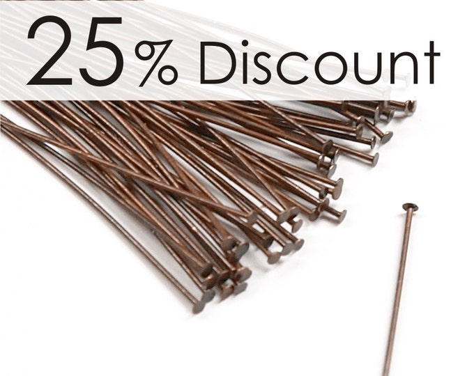 HPBAC-5024 - Head Pin, 2 in/24 ga, Antique Copper - 500 Pieces (10pk)