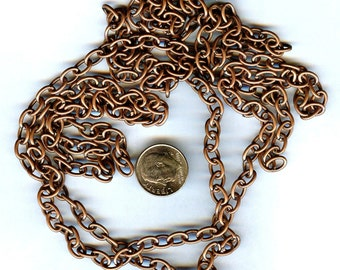 Gorgeous Copper 6mm Oval Link Chain 54 inches