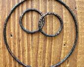 Soot Black Copper Circle Hoop Set - 3 pieces - Patina Artisan Findings
