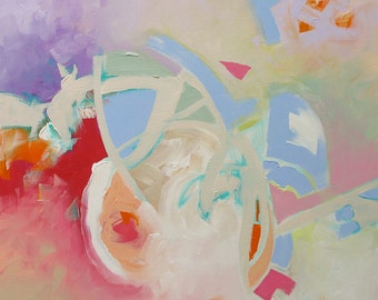 Abstract Painting Giclee Print From Original Abstract Expressionist Painting Geometric Modern Art Made To Order Fine Art Print Linda Monfort