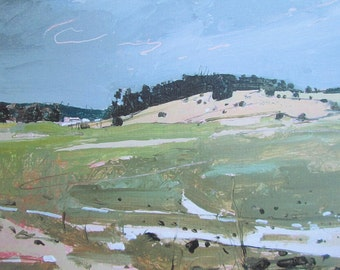 December 6, Lost Dog Hill, Winter Landscape, Archival Print on Stretched Canvas, Stooshinoff