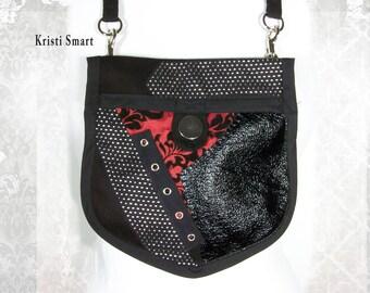 Industrial goth pocket purse