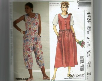 McCall's Misses' Jumpsuit and Sundress Pattern 4824