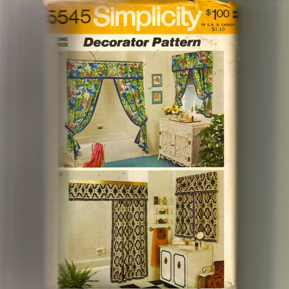 Simplicity Swag Or Single Shower Curtain With Valance And
