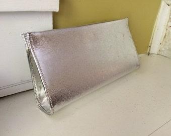 Glamazon Silver Metallic Clutch Purse.