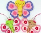 Felt Butterfly Tutorial - Digital Pattern - PDF File - DIY Instant Download