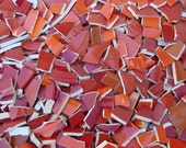 Mosaic Tiles Mix Broken Plate Art Hand Cut Pieces Red Mixes Pottery China Solid Fillers 200
