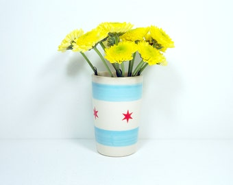 itty bitty cylinder chicago flag, Made to Order,