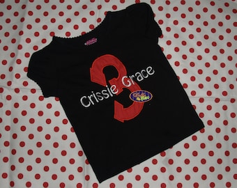 Custom Personalized Number Birthday Shirt Girl or Boy