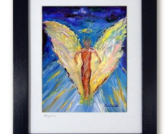 Angel Gift Art - Vision of Angels - Mat print 11x14 Katrina's Relief by artist BenWill