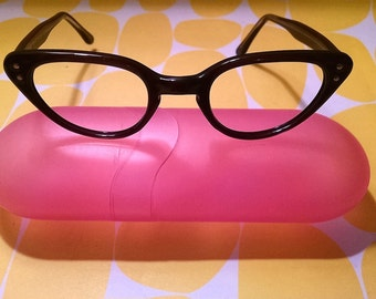 Brown Cat's Eye Glasses - New Vintage from Deadstock