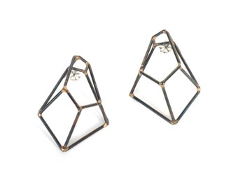 Crystalline Construction Earrings