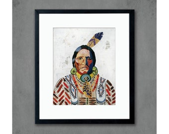 American Heritage (Warrior) Print on Paper