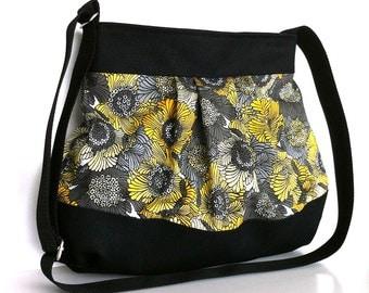 Summer crossbody messenger bag Women fashion tote bag Casual day bag  Floral purse Cross body purce Shoulde strap purse Cotton side bag