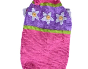 pet clothing dog sweater hand knit and made to measure to fit your dog perfectly  - other colors are possible