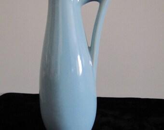 Vintage USA Shawnee Pitcher or Vase Baby Blue 1168
