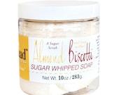 New - Almond Biscotti Whipped Soap Sugar Scrub