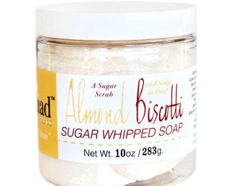 Almond Biscotti Whipped Soap Sugar Scrub