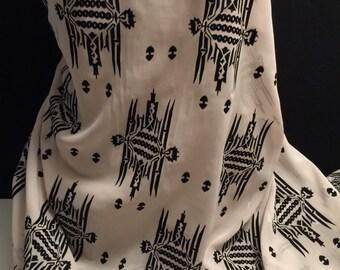 Polyester Chiffon With Embossed Damask Pattern 2 Yards
