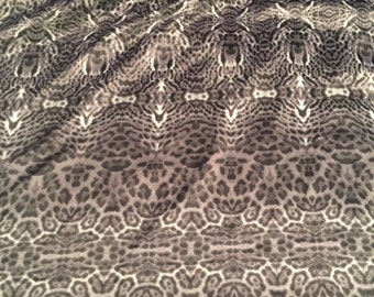 Polyester Charmuese Abstract Animal Print  Fabric 2 Yards