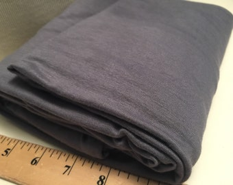 Stretch Jersey Knit Fabric Grey 1 Yard