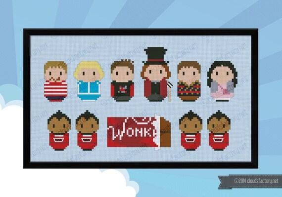 Charlie and the Chocolate Factory parody  - Cross stitch PDF pattern