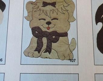 Kiddie Komfies Dog 107 Wall Hanging Baby Quilt Sewing Pattern