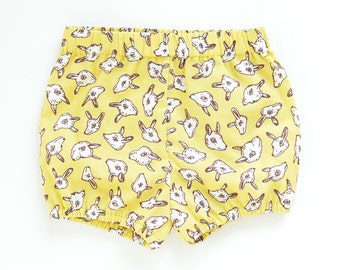 Animal Heads Baby Bloomers | Green-Gold | Original Fabric