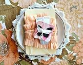 Peach Ruffled Crepe Paper, 1 yard