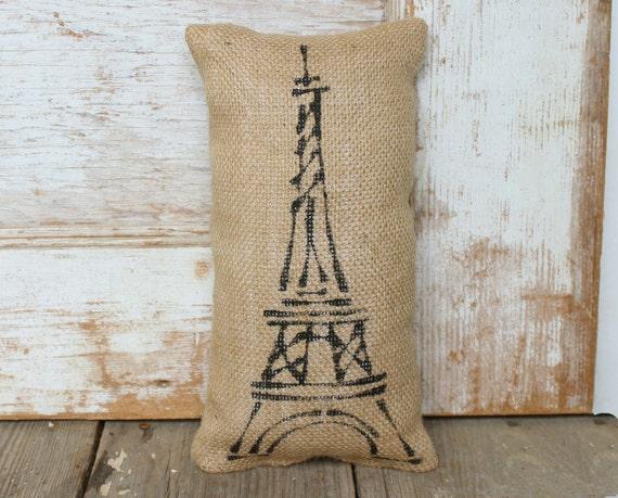 Eiffel Tower -  Burlap Doorstop - Paris Door Stop - Eiffel Tower Decor