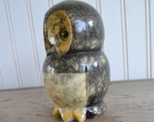 Vintage Owl Figurine - Paper Weight - Stone - Silk Creek Gallery