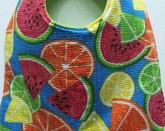 Summer Fruits Baby Bib Watermelon Oranges Lemon and Lime