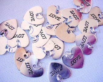 Big Lot of Heart-Love Charms