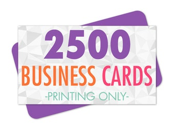 2500 Business Cards Printing
