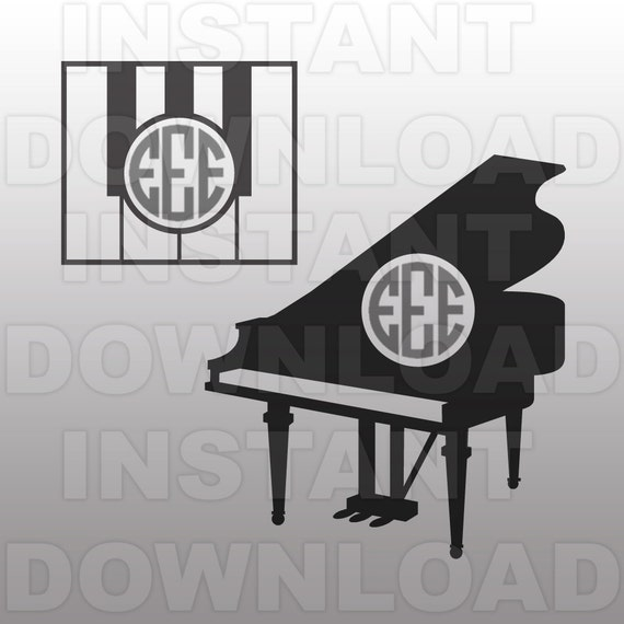 Music Svg Filepiano Monogram Svg Filepiano Svg File Vector