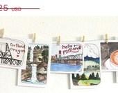 ON SALE - Portland Postcards, Set of Portland Postcards, Portland Oregon, Illustrated Postcards, 13 Portland Oregon Postcards